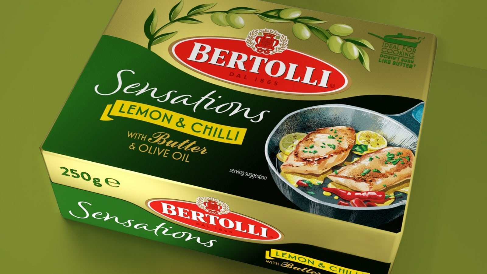 Bertolli Sensations packaging design by Slice Design