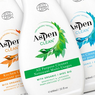 Aspen Clean Packaging Design and branding